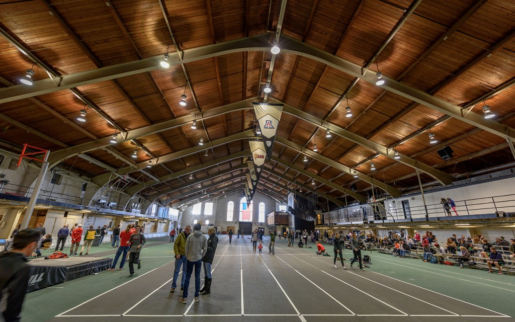 The last meet at Balch Fieldhouse.